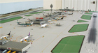 model airport runway-dual